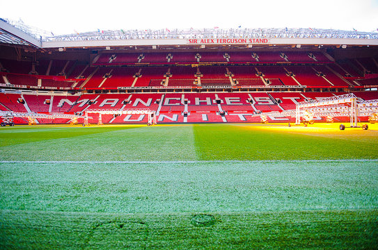 MANCHESTER, ENGLAND : Old Trafford stadium on December 26th, 2014 in Manchester, England. Old Trafford is home to Manchester United football club one of the most successful clubs in England