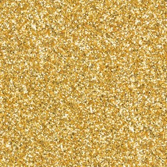 Golden elegant glitter, sparkle confetti texture. Christmas abstract background. Ideal seamless...