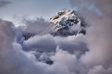 Annapurna South peak in Himalayas
