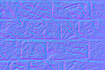 Tuff stone wall in normal map