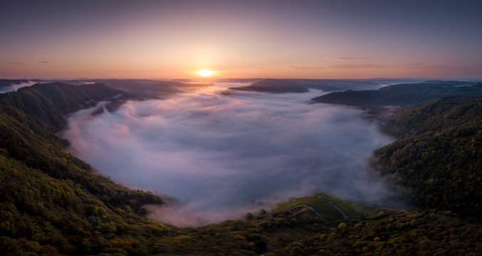 Foggy Sunrise at the Mosel Valley –Germany