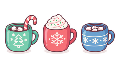 Christmas hot drink cup set