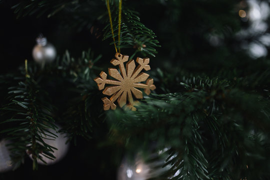 Christmas decorations in a home