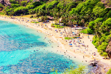 Hanauma Beach in Oahu, Hawaii