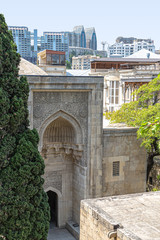 Mosque in the Palace of Shirvanshahs in Baku, top view
