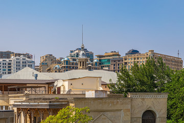 View of modern Baku from the historical center of Icheri Sheher