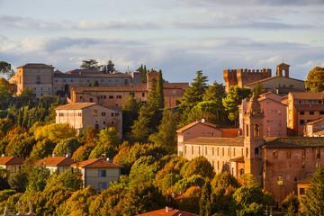 Perugia historic center view st sunset