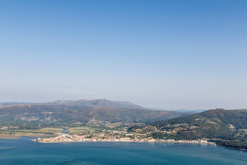 Caminha, town of Portugal, on the other side of Miño, from Santa Tecla, Galicia, Spain