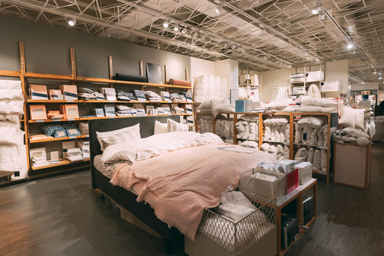 View Of Assortment Of Decor For Bedroom Shop In Store Of Shopping Center