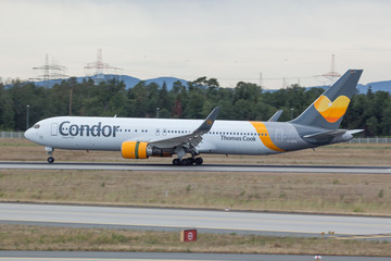 D-ABUE Condor Boeing 767-300 landing in Frankfurt/Mail on 6th July 2019