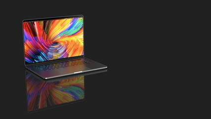 Cracow, Poland - November 16, 2019 : MacBook Pro a new version OS for Mac of the laptop from Apple.
