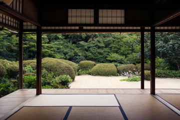 Poster Kyoto Beautiful open pavilion of Shisen-do temple in Kyoto