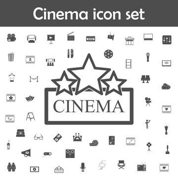Cinema sign icon. Cinema icons universal set for web and mobile