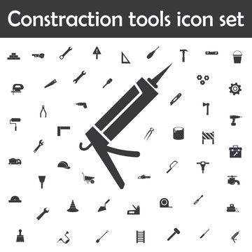 Glue gun icon. Constraction tools icons universal set for web and mobile