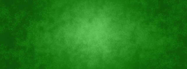 Wall Mural - green Christmas background banner with metal texture design and soft center lighting