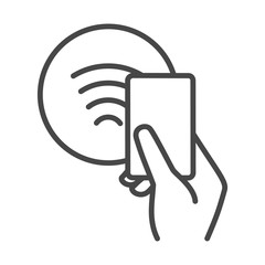 Nfc contactless payments sign