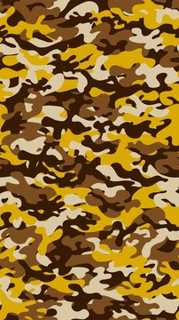 Vertical camouflage background. Seamless pattern.Vector. 縦長迷彩パターン