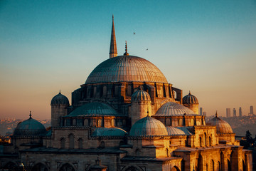 Photo sur Toile Con. Antique blue mosque in Istanbul