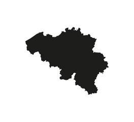 Belgium map on white background. Vector illustration.