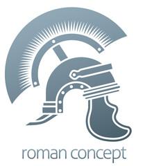 A Roman centurion soldier helmet icon concept graphic