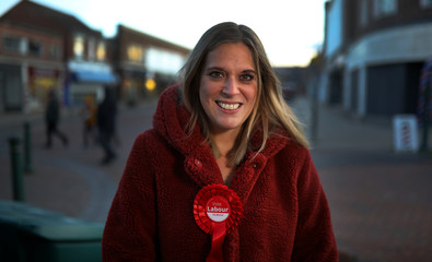 Smith, the Labour Party candidate for Crewe and Nantwich, poses for a photograph whilst campaigning in Crewe