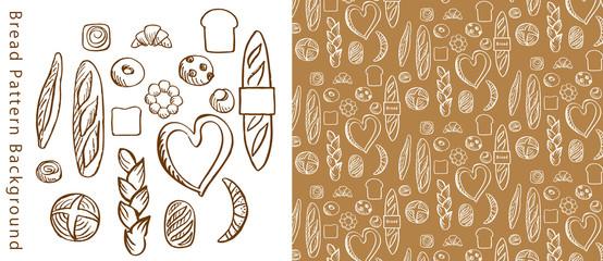 手描きのパンのパターン