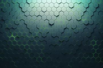 Creative hexagon pattern