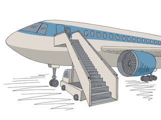 Aircraft exterior graphic color sketch illustration vector