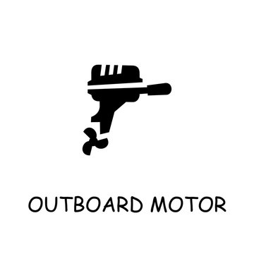 Outboard Motor flat vector icon