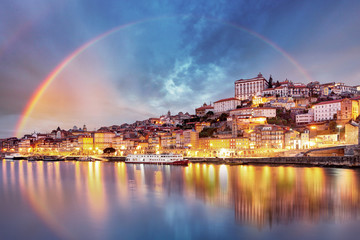 Porto city at sunset, Portugal