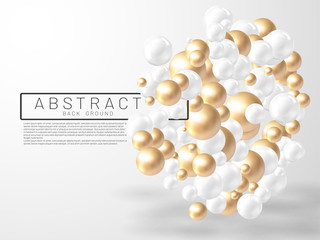 Vector illustration of overlapping abstract balls or bubbles. Realistic 3D sign. suitable for any background