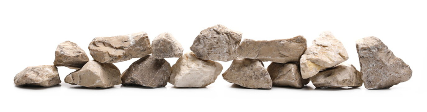 Decorative rocks, stone isolated on white background