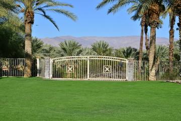 Gates to a mountain range in California