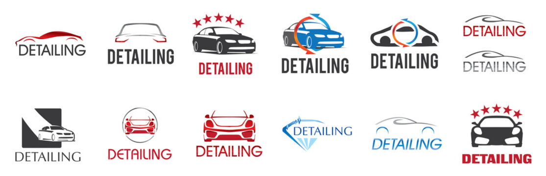 Vector logo for detailing car and tuning