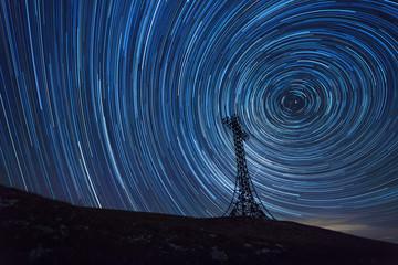 Foto op Canvas Spiraal Circles of Stars