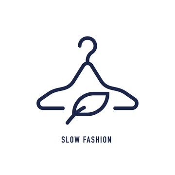 Slow fashion line icon. Eco tested sign. Fair trade symbol. Vector