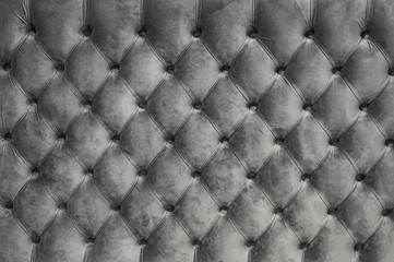 Chesterfield style quilted upholstery backdrop close up. Capitone pattern texture background Wall mural