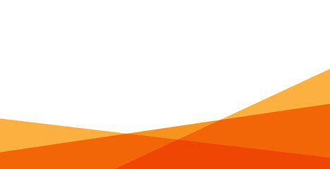 simple orange background . flat geometric gradation style  Fototapete