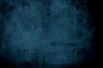 dark blue grungy backdrop with vignette borders