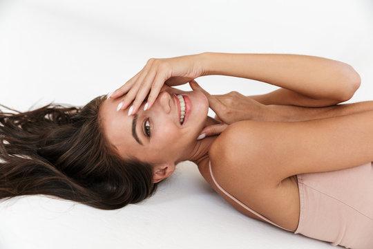 Beautiful young sensual woman wearing bodysuit