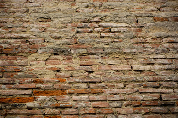 Red brick wall texture, background