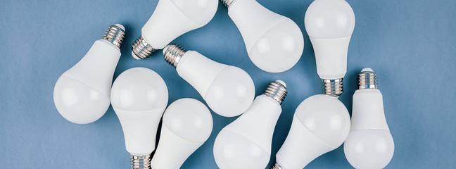 Energy saving and eco friendly LED light bulbs Wall mural