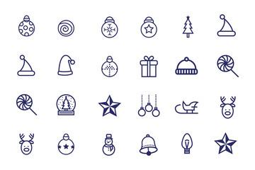 bundle of christmas set icons