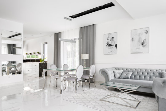 Glamour and romantic style interior