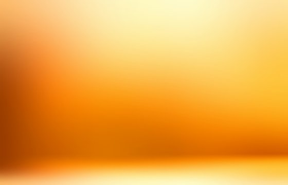 Yellow bright 3d background. Vibrant gradient. Abstract wall and floor.