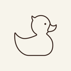 Rubber duck icon template. Education concept. Vector