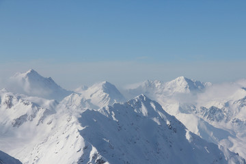 Fototapete - Winter mountains in Soelden