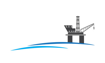 Vector of drilling platform for oil and gas industry