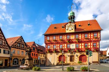 Rathaus, Bad Staffelstein, Bayern, Deutschland