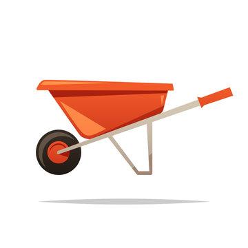 Wheelbarrow vector isolated illustration